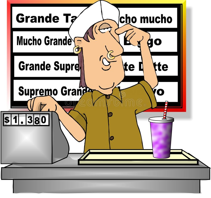 Download Fast Food stock illustration. Illustration of mexican, comic - 175306