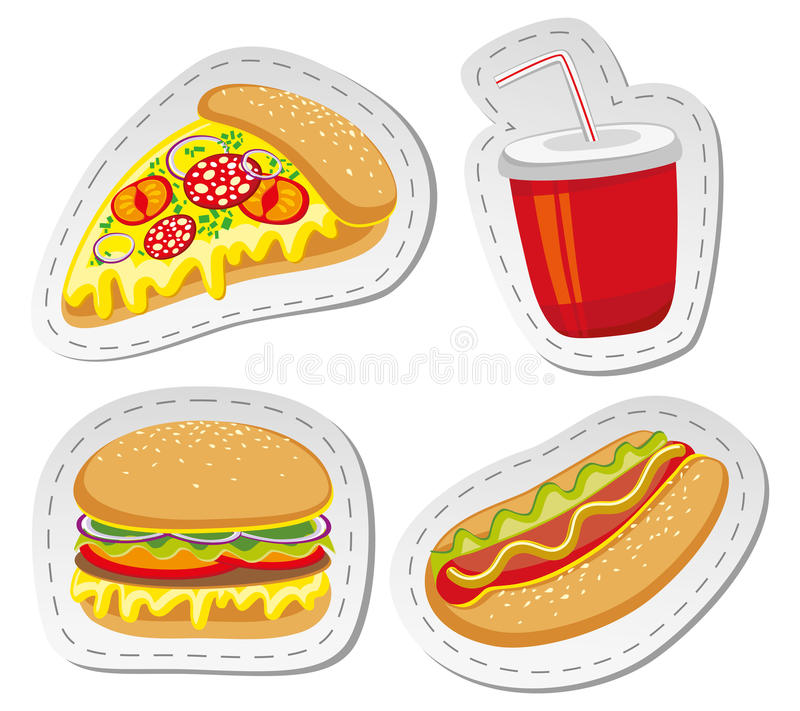 Download Fast food stock vector. Illustration of calorie, roll - 20114511