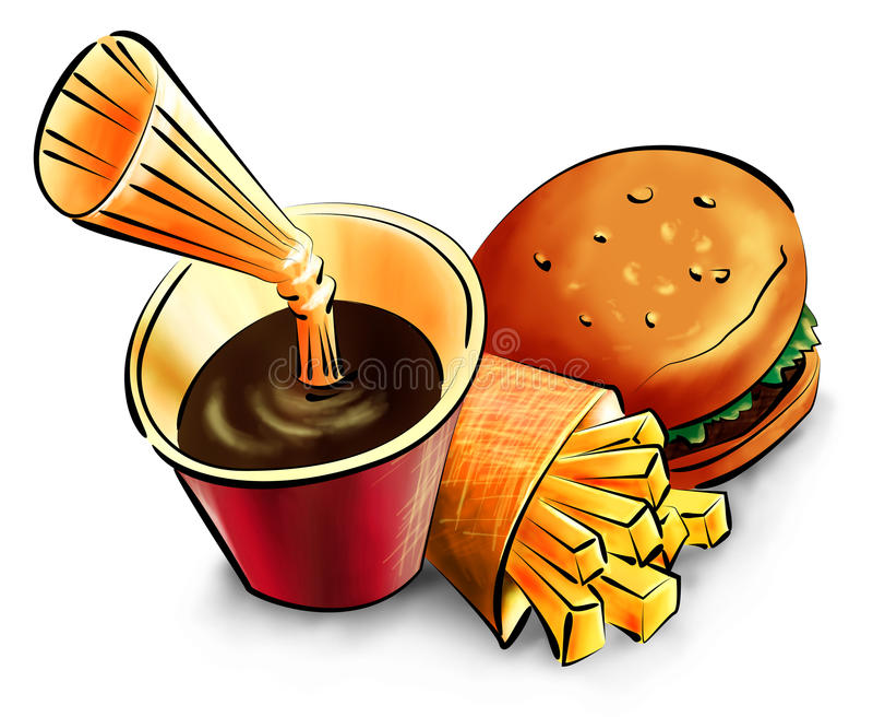 Download Fast food stock illustration. Image of junk, fried, cold - 20178351