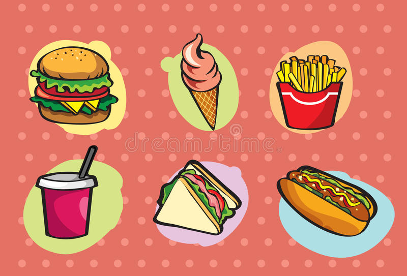 Fast Food royalty free illustration