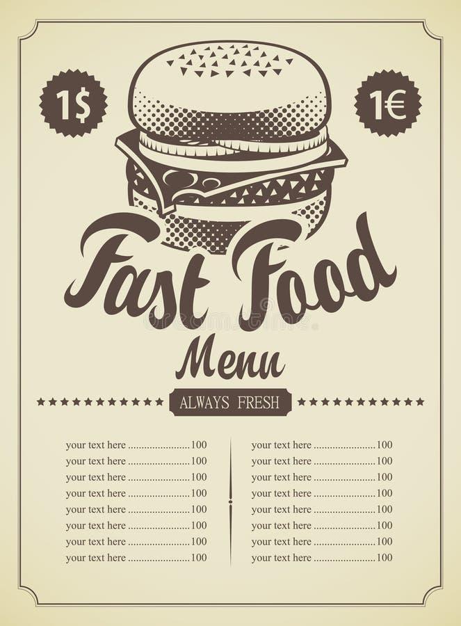 Fast food royalty ilustracja