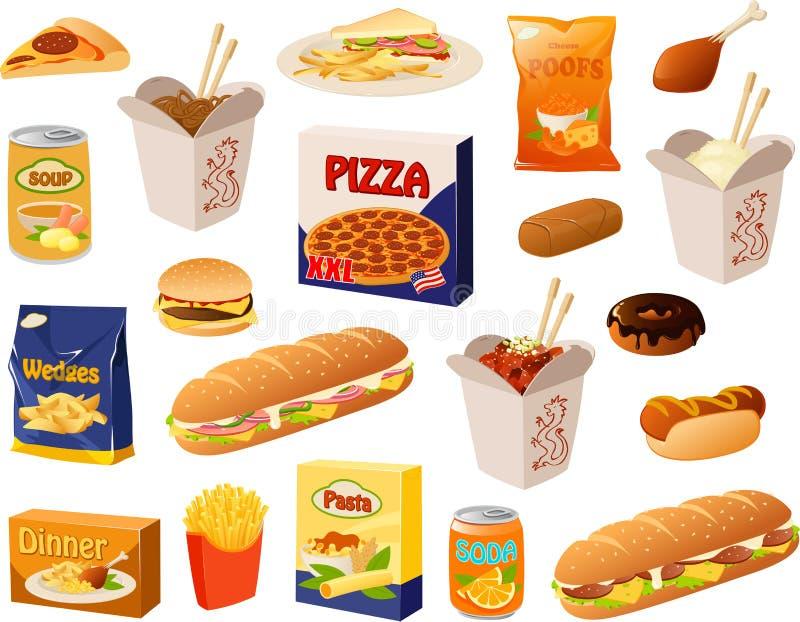 Fast food ilustracji