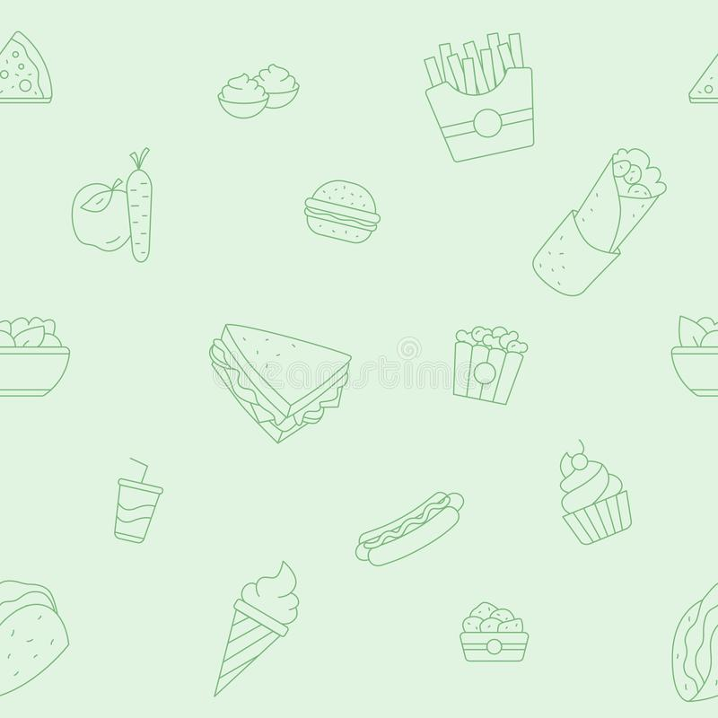 Fast Food background 04 royalty free illustration