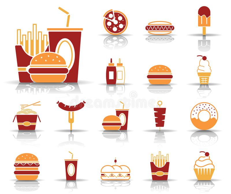 Fast food & bebidas - Iconset - ícones ilustração royalty free
