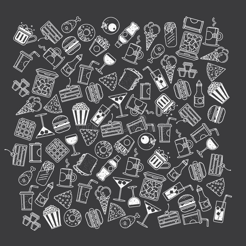 Fast food, bezszwowy wzór ilustracji