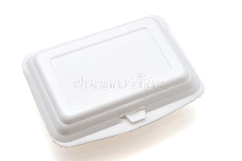 Fast food box. Isolated image of a disposable food box stock photography