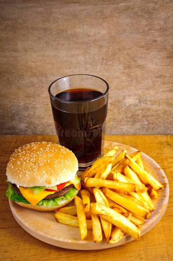 Fast food burger menu stock photo