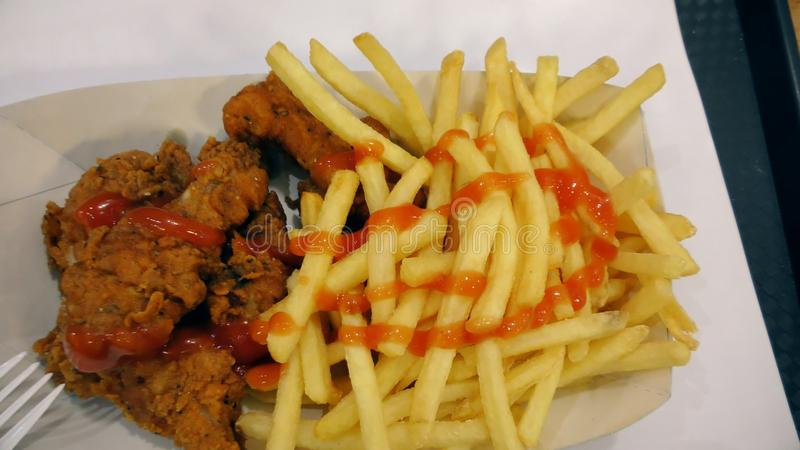 Fast Food Chicken And Fries Stock Video Video Of Lunch Fried