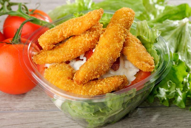 Fast Food  Chicken Salad Stock Photo