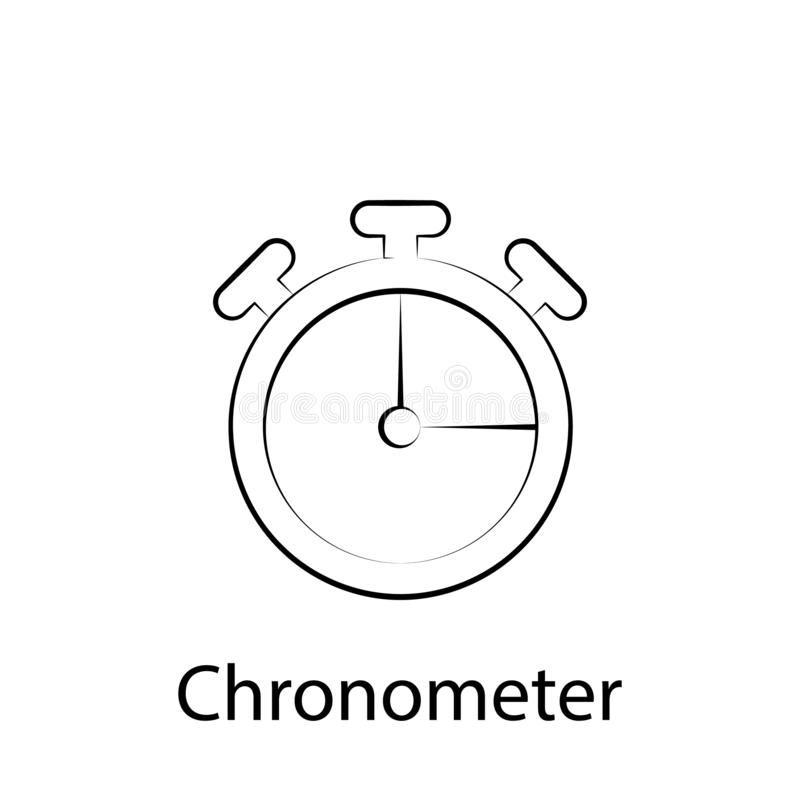 Fast food chronometer outline icon. Element of food illustration icon. Signs and symbols can be used for web, logo, mobile app, UI vector illustration