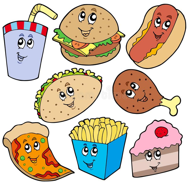 Fast food collection royalty free illustration