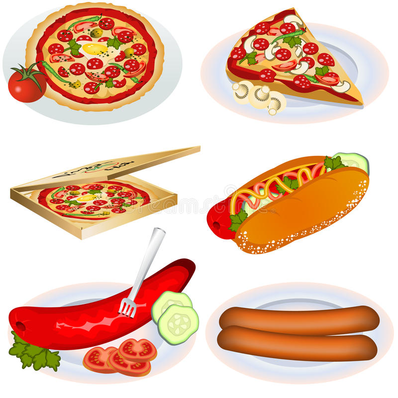 Fast food collection 2 stock illustration