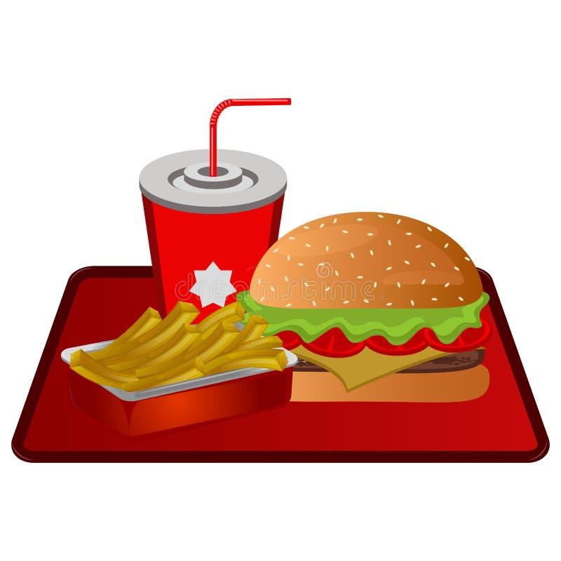 Fast food combo royalty ilustracja