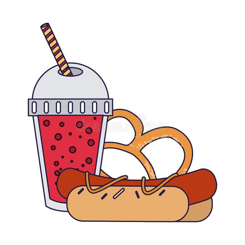 Fast food combo ilustracji