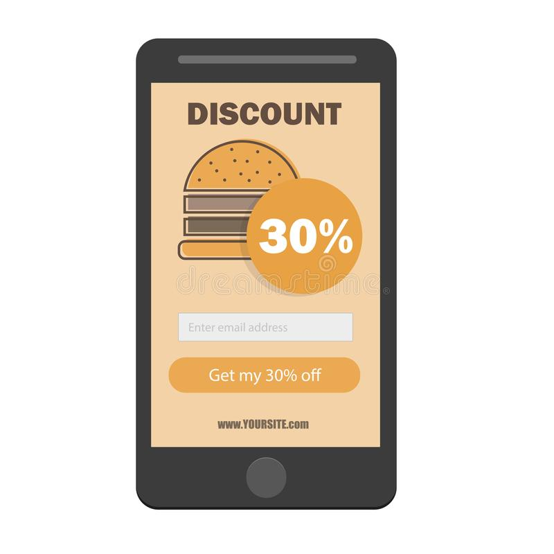 fast food burger coupon discount template flat design email