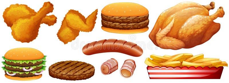 Fast food dżonka na bielu ilustracji