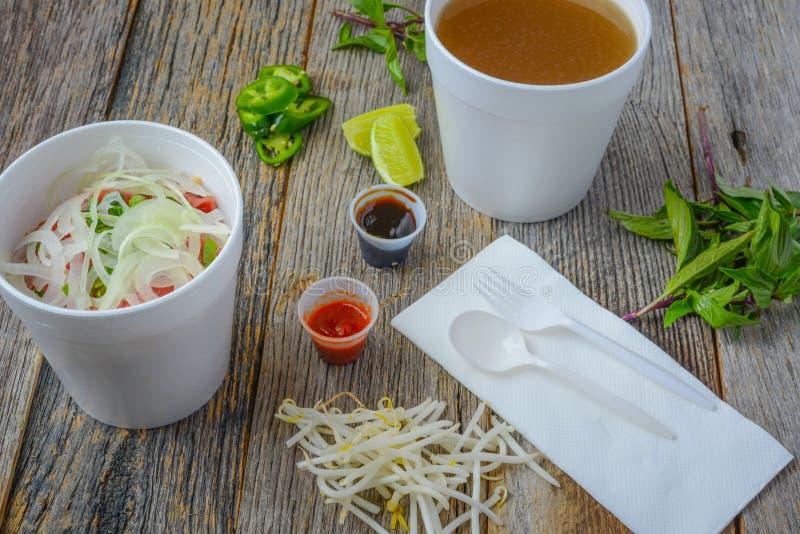 Fast food de Pho a ir imagem de stock royalty free