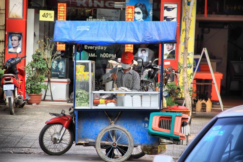 Fast food de Siem Reap imagens de stock