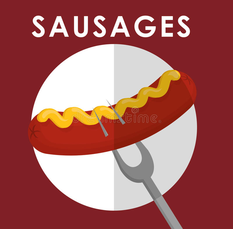 Fast Food design. Fast food concept with sausage design, vector illustration 10 eps graphic royalty free illustration