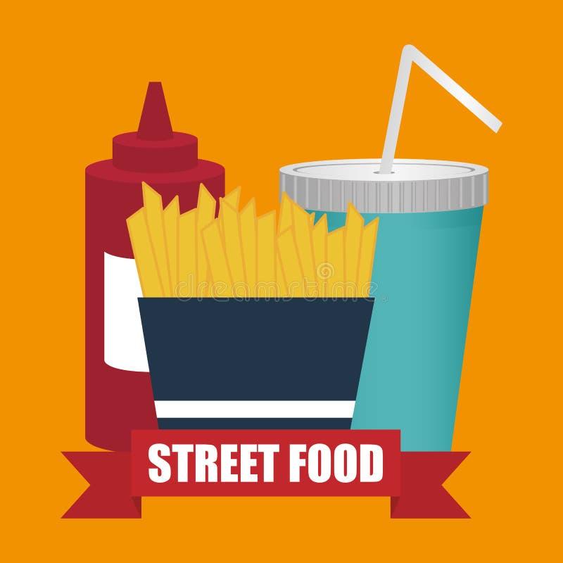 Fast Food design. Fast Food digital design, vector illustration 10 eps graphic royalty free illustration
