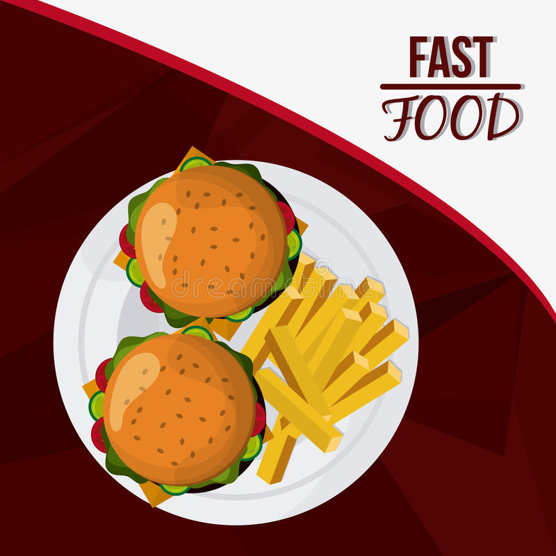 Fast Food design. Menu icon. Colorfull illustration , vector graphic. Fast Food concept with icon design, vector illustration 10 eps graphic stock illustration
