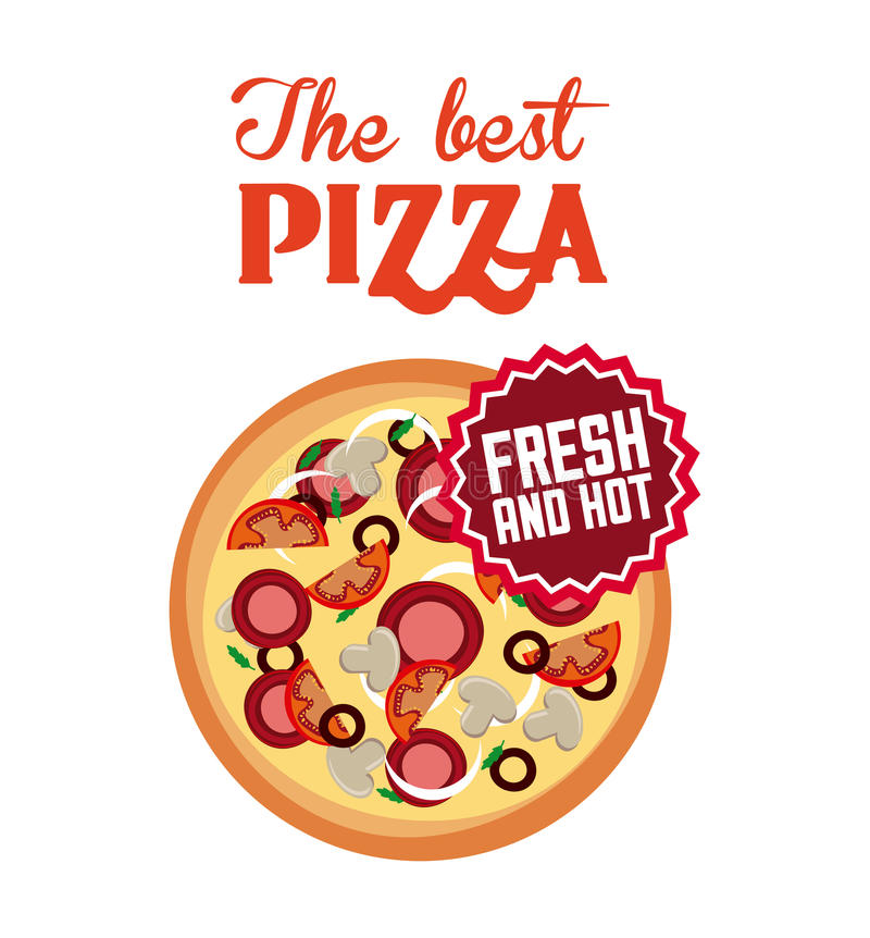 Fast food design. Pizza icon over white background. fast food concept. colorful design. illustration vector illustration