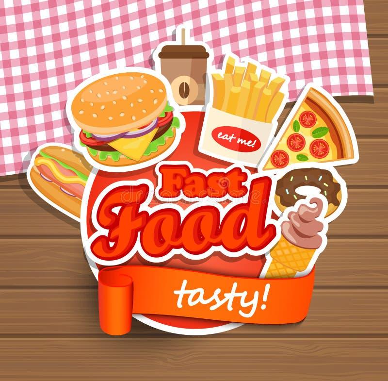Fast food design template. stock illustration