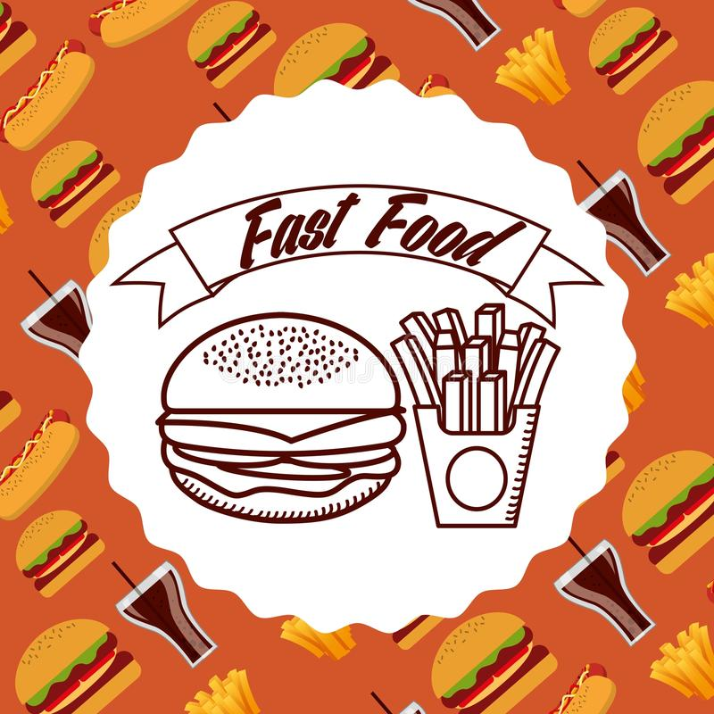 Fast food design royalty free illustration