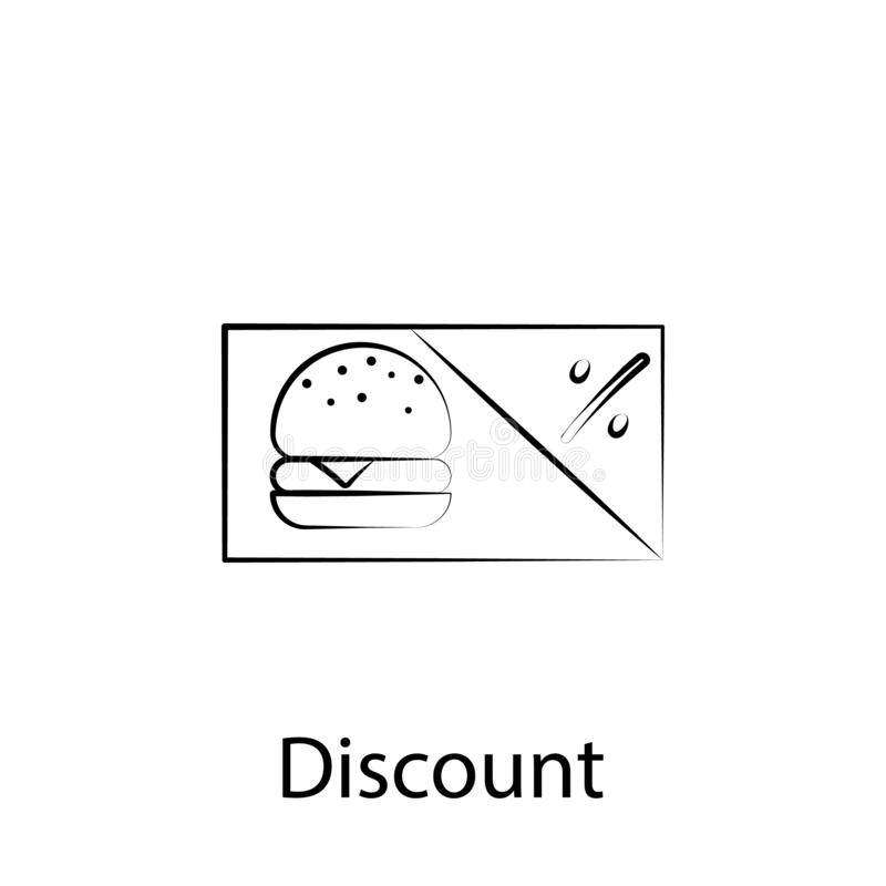 Fast food discount outline icon. Element of food illustration icon. Signs and symbols can be used for web, logo, mobile app, UI, vector illustration