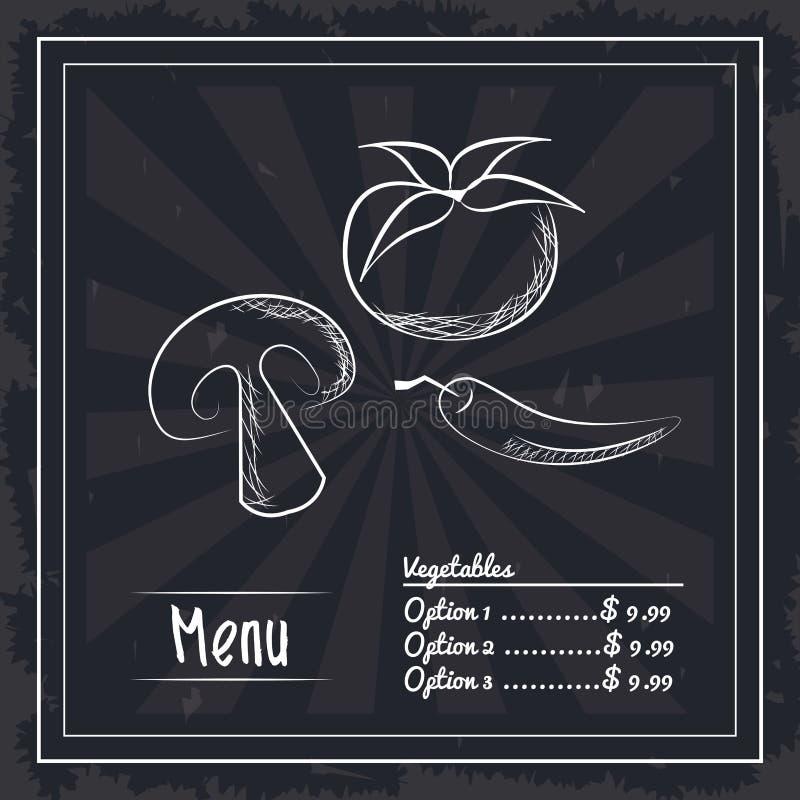 Fast food do menu ilustração stock