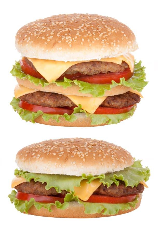 Fast food dobro do cheeseburger imagem de stock royalty free