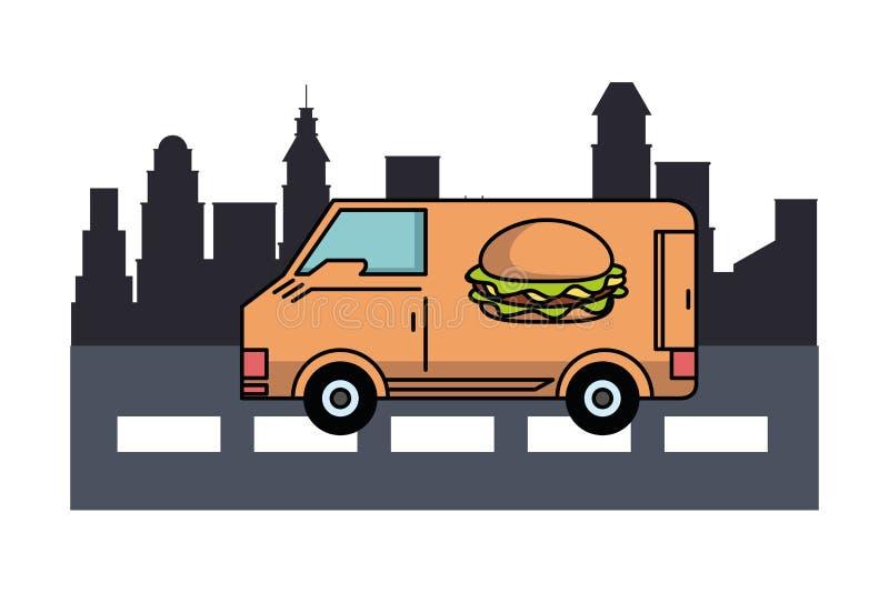 fast food dostawa ilustracji