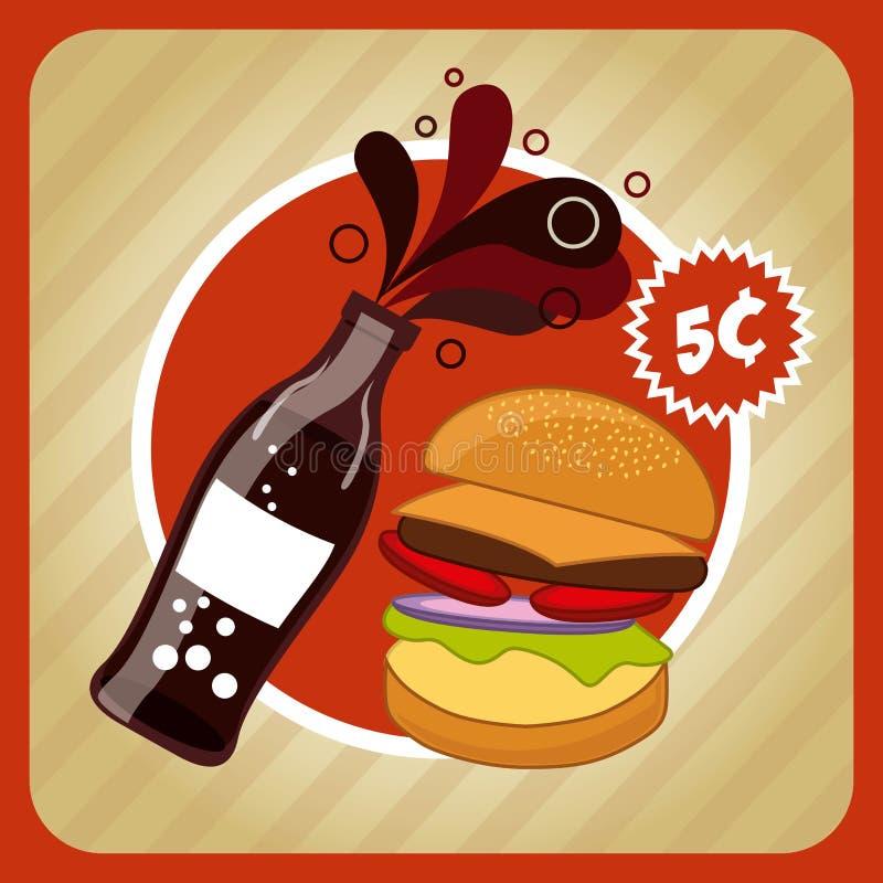 fast food e projeto da soda ilustração do vetor
