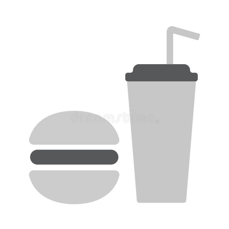 Fast food icon royalty free illustration