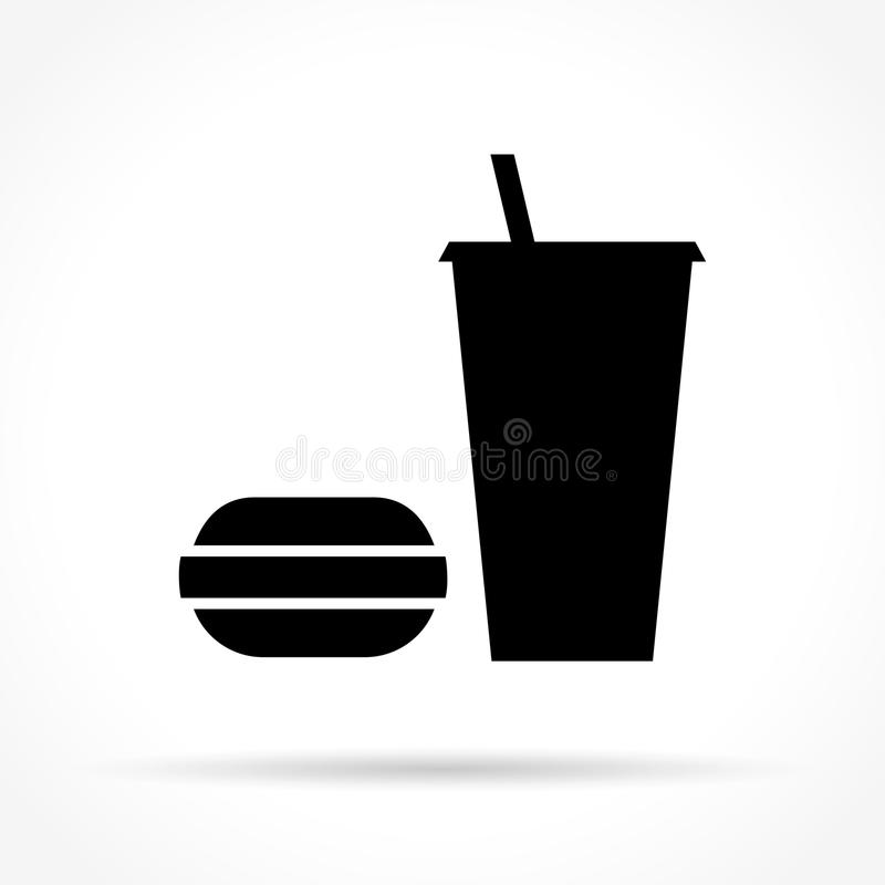Fast food icon. Illustration of fast food icon on white background stock illustration