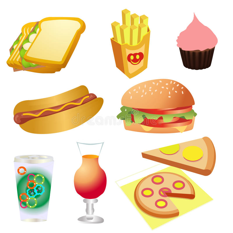 Download Fast food stock illustration. Illustration of cheeseburger - 32367298