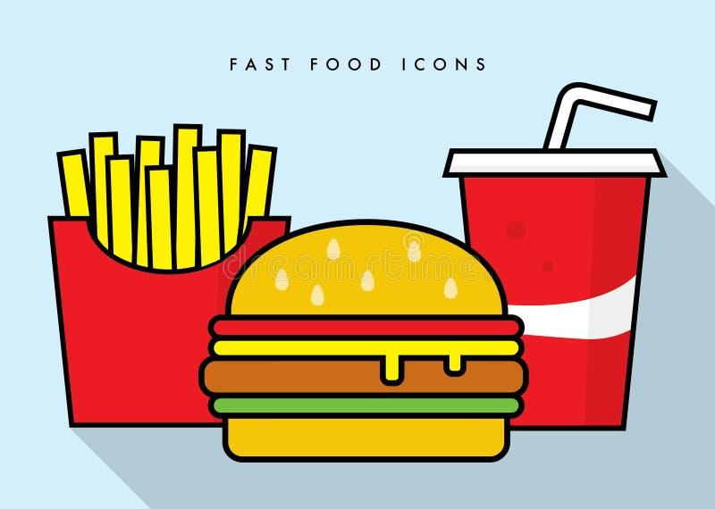 Fast food icons – stock illustration stock illustration