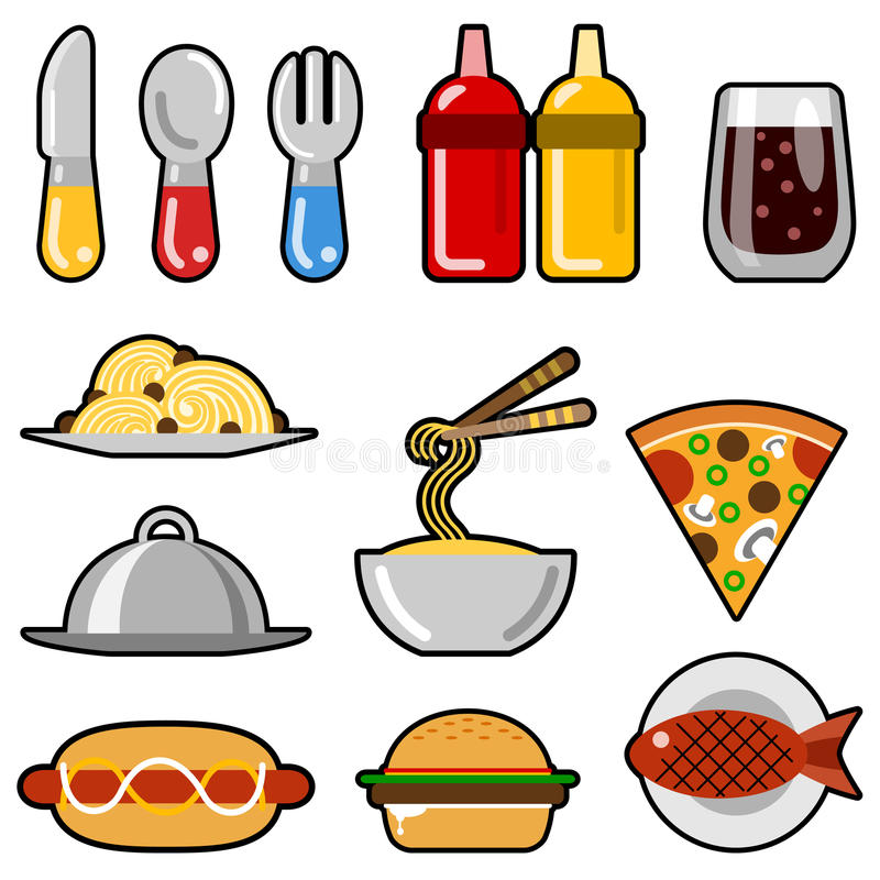 Download Fast Food Icons Royalty Free Stock Photos - Image: 10119478