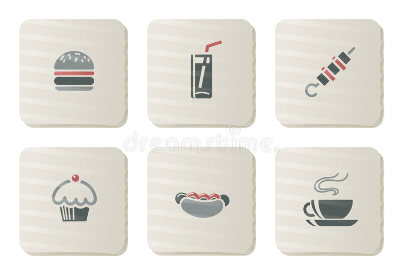 Download Fast Food Icons | Cardboard Series Stock Vector - Image: 7857472