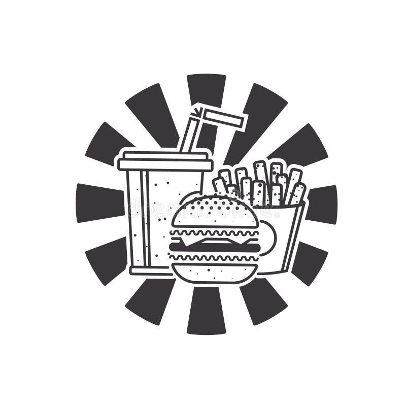 Fast Food ikona ilustracja wektor