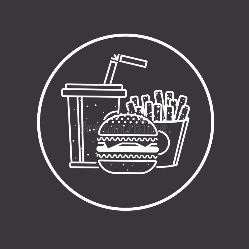 Fast Food ikona royalty ilustracja