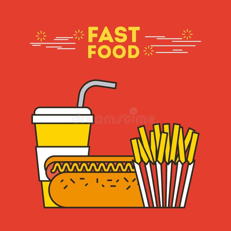 Fast food illustration stock illustration