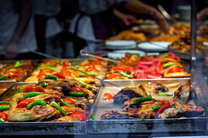 Fast food in Istanbul royalty free stock photo
