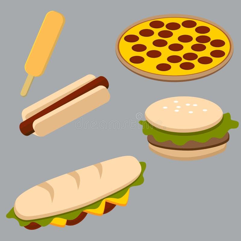 Fast Food Items stock illustration