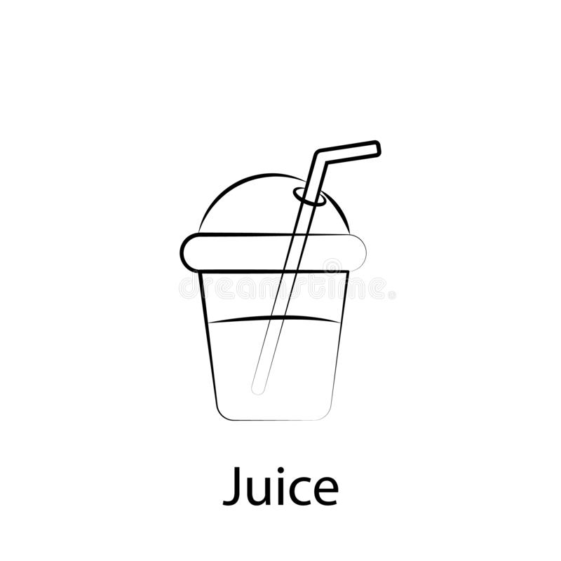Fast food juice outline icon. Element of food illustration icon. Signs and symbols can be used for web, logo, mobile app, UI, UX vector illustration