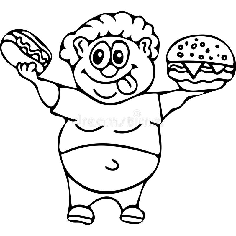 Fast food kids coloring pages stock illustration for Coloring pages fast food