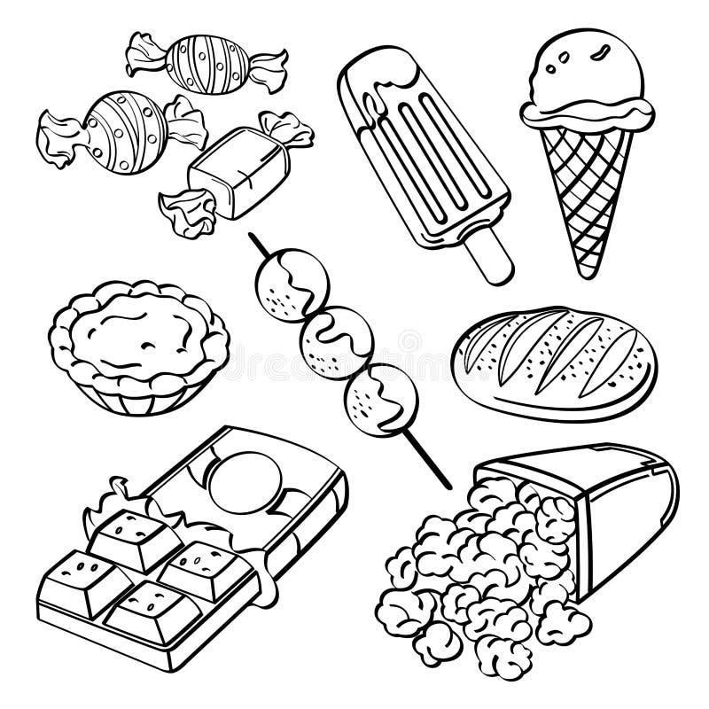 Fast food kolekcja royalty ilustracja