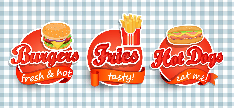 Fast food label. royalty free illustration