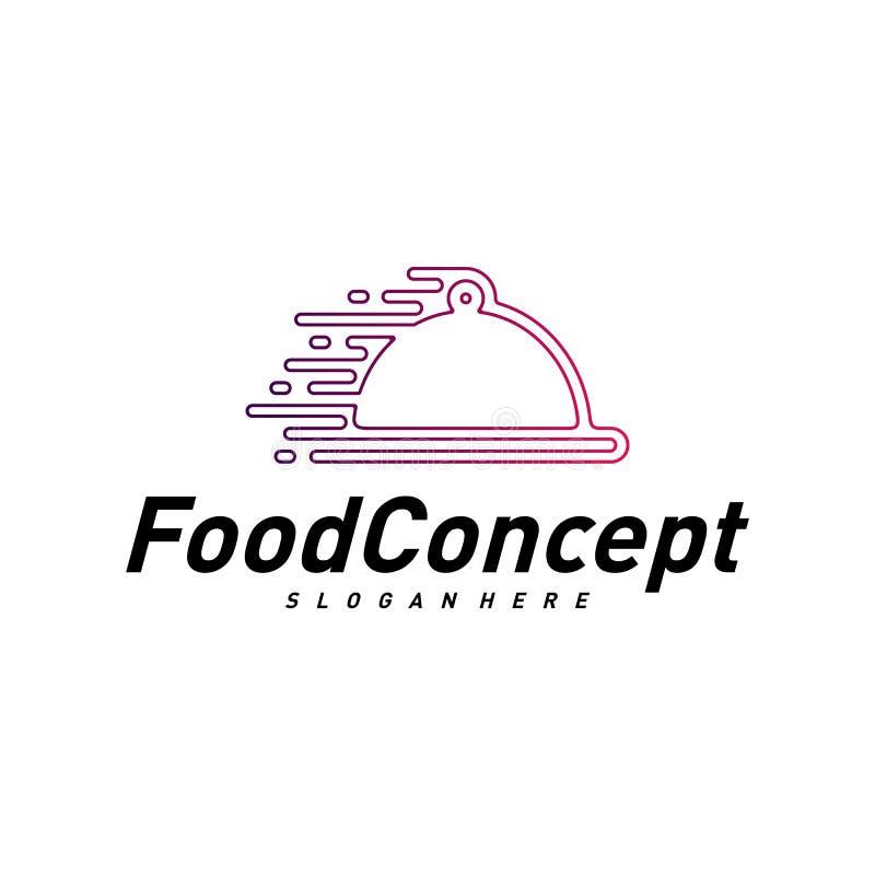 Fast food Logo Concept Vetora Cozinhando o vetor do molde do projeto do logotipo S?mbolo do ?cone ilustração stock