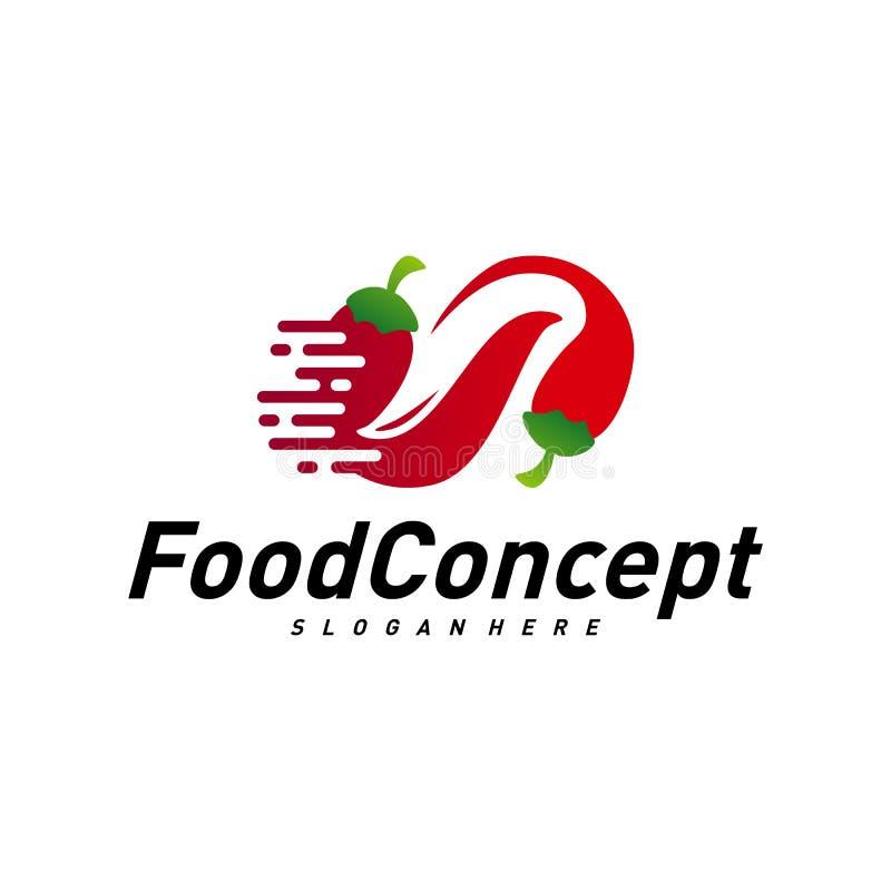 Fast food Logo Concept Vetora r r ilustração stock
